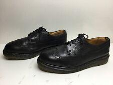 Vtg Mens Dr. Martens Wing Tip Casual Black Shoes Size 12 Uk