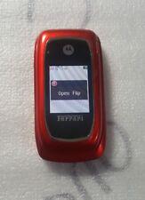 Motorola i897 Ferrari Rare Flip Cellular Nextel IDEN Phone RED