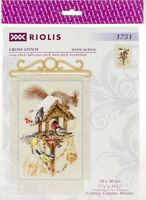 """RIOLIS Counted Cross Stitch Kit 7.9""""X11.8""""-Cottage Garden In Winter (14 Count)"""