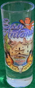 "Hard Rock Cafe SAN ANTONIO 2017 City Tee T-Shirt 4"" SHOT GLASS Cordial V17 New"