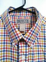 Duluth Trading Co Mens Large Tall LT Trim Fit Multicolor Plaid Button Up Shirt