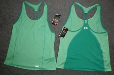 WOMENS UNDER ARMOUR TANK TOP LARGE SPORTS COOL SWITCH TRAIL GREEN BRAND NEW