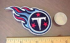 "NFL TENNESSEE TITANS NFL LOGO 3 1/4"" x 1 3/4"" embroidered Iron-on Mini Patch"