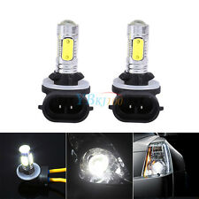 2x Car Truck 5 COB LED 7.5W 6500K HID White Fog Lights DRL Bulbs H27W/2 881