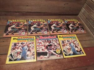 Vintage LOT 1980-83 Topps Baseball Sticker Albums - With Some Stickers!