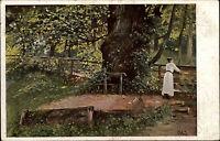 Feldpostkarte 1. Weltkrieg Feldpost Briefstempel auf Kunst-AK Walther Witting