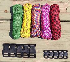 "100 ft Multicolored Paracord Bracelet Kit with 5 3/8"" & 5 5/8"" Buckles"
