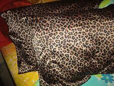 MAINSTAY SATIN LEOPARD BLACK GOLD ANIMAL (PAIR) STANDARD PILLOWCASES 19 X 29