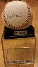 "RARE CHICAGO MAYOR RAHM EMANUEL ""GO CUBS"" signed  ROMLB baseball COA JSA obama"