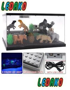 show case inkl. LED Beleuchtung für LEGO® Minifiguren Schaukasten Vitrine ledako