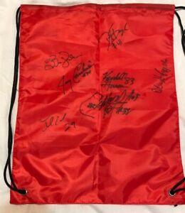 Kansas City KC Chiefs Autographed Signed Arby's Knapsack w 7 auto's