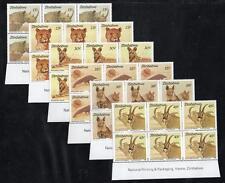ZIMBABWE MNH 1989 Endangered Species Imprint Block of 6