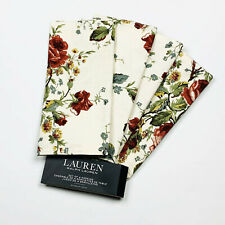 Ralph Lauren Home Floral Bouquet of Roses Cotton Napkins Set of 4