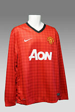 NEUF Vintage Nike Manchester United Club de football maillot manche longue Home