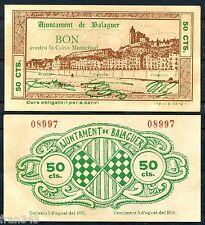 BIllete local  AYUNTAMIENTO BALAGUER 50 CENTIMOS 1937 EBC  / SPAIN CIVIL WAR XF