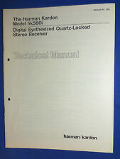 HARMAN KARDON hk580i TECHNICAL SERVICE MANUAL ORIGINAL FACTORY ISSUE REAL THING