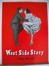 WEST SIDE STORY Souvenir Program CAROL LAWRENCE / LARRY KERT / MURIEL BENTLEY 59