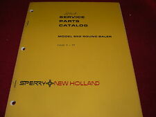 New Holland 852 Round Baler Original Dealer's Parts Book