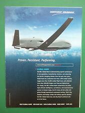 6/2010 PUB NORTHROP GRUMMAN UAV DRONE GLOBAL HAWK ISR USAF ORIGINAL AD