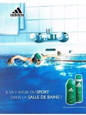 PUBLICITE ADVERTISING  2005  ADIDAS  cosmétiques salle de bain