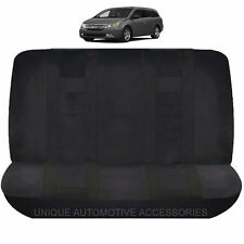 SOLID BLACK DOUBLE STITCHED POLYESTER BENCH SEAT COVER 2PC SET FOR VANS 9020