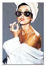 Frau- Modern Art- 90x60cm-Ölbild handgemalt Leinwand Signiert G97842