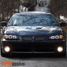 97-03 Pontiac Grand Prix Black CCFL Halo Projector Headlights +Corner Left+Right
