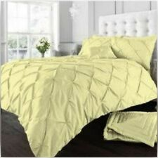 50/% coton Luscious Pintuck Fantaisie Noir King Parure De Lit 50/% polyester