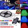 10M/5M SMD 5050/3528 RGB 150/300 LED Strip Adapter IR Remote Waterproof Kit US #