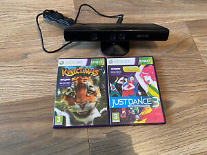 Xbox 360 Kinect Sensor with just dance 3 and kinectimals