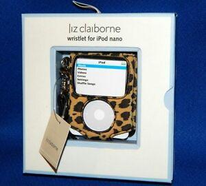 NEW Liz Claiborne iPod Nano Wristlet/Sleeve/Skin/Case LEOPARD 4GB/8GB-Free Ship