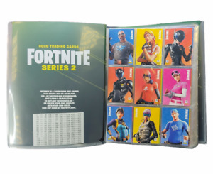 Fortnite Series 2 Base Set Cards: Complete Uncommon Rare & Epic Outfits w/Folder
