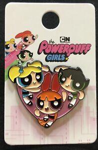 THE POWERPUFF GIRLS CARTOON NETWORK ENAMEL PIN - BLOSSOM BUBBLES & BUTTERCUP