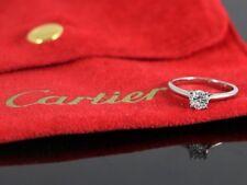Cartier Platino GIA 0.37ct Ct Diamante Redondo 1895 Anillo Solitario de