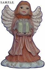 Angel Ornament with Gift 2.5 inch Hand made Ceramic Ready to paint bisque