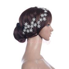 Silver Star Bridal Headband with Crystal Rhinestone Wedding Hair Band Headpiece