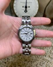 LQQK! (RARE) SEIKO 5M42-0H19 KINETIC 100m 37mm Stainless Steel Mens Watch! AS-IS