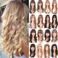 Latest Ombre Long Hair Wig Straight Curly Wavy Women Lady Cosplay Party Full Wig