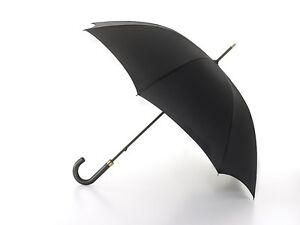 Fulton Governor Mens Walking Length Long Umbrella in Black