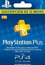 Tarjeta PlayStation Plus 12 Meses 1 Año PSN PS4 Entrega rápida mismo día