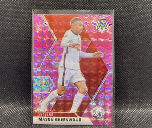 Mason Greenwood Pink Camo 2021 Panini Mosaic UEFA Euro Soccer #108 England