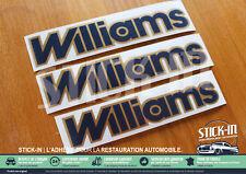Ensemble 3 Autocollants Stickers Renault Clio Williams Phase 2 Conformes Origine