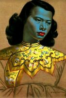 The Chinese Lady, by Tretchikoff aka Green Lady. 42x30cm print unframed.