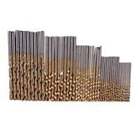 50 Stueck 1/ 1.5/ 2.0/ 2.5/ 3 mm Titan Beschichteter HSS Bohrer Set A8S9