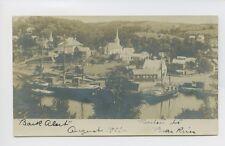 RPPC - Bear River, NS, Canada - SCARCE 1901 TOWN VIEW Mast Schooners Harbor UDB