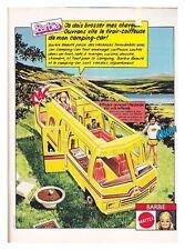 1981 DOCUMENT(ref Cim  1533) PUB JOUET BARBIE CAMPING CAR  1page