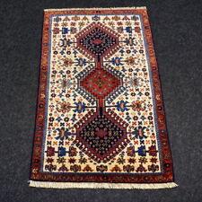 Orient Teppich Beige 80 x 52 cm Alter Perserteppich Handgeknüpft Old Carpet Rug