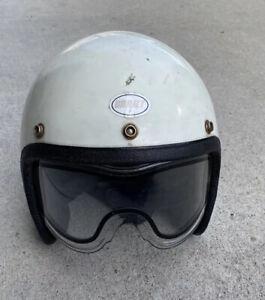 Vintage Grant Motorcycle Half Helmet Size Large White