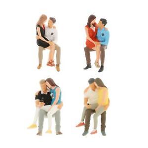 1/64 Scale People Figures Diorama Miniature Figurines for Auto Scene Decor