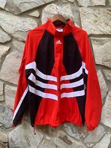 Adidas Predator Pullover Jacket Partial Zip Mesh Accelerator Rare Red Size XL